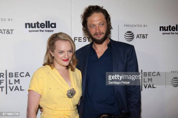 Elisabeth Moss and Ebon Moss-Bachrach attend 2017 Tribeca Film Festival at Regal Battery Park Cinemas on April 22, 2017 in New York City.