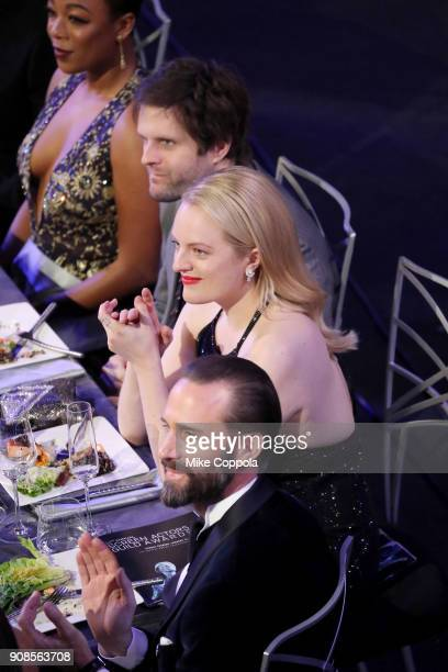 Elisabeth Moss and Joseph Fiennes during the 24th Annual Screen Actors Guild Awards at The Shrine Auditorium on January 21 2018 in Los Angeles...
