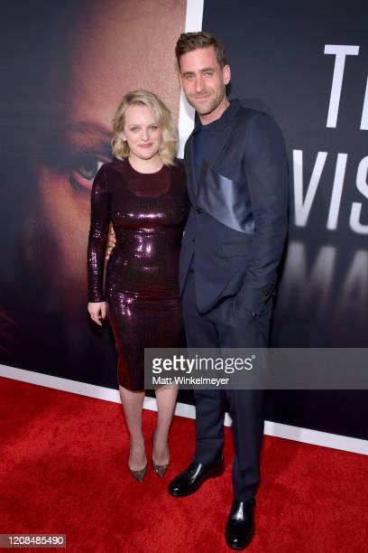 Elisabeth Moss and Oliver JacksonCohen attend the Premiere of Universal Pictures' The Invisible Man at TCL Chinese Theatre on February 24 2020 in...