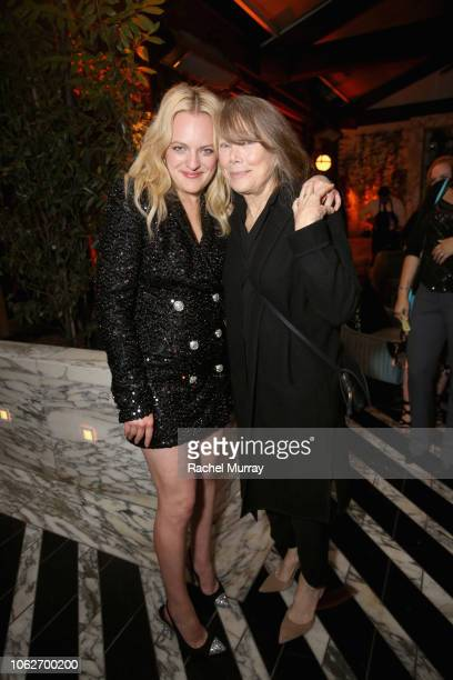 Elisabeth Moss and Sissy Spacek attend the 2018 Hulu Holiday Party at Cecconi's Restaurant on November 16 2018 in Los Angeles California
