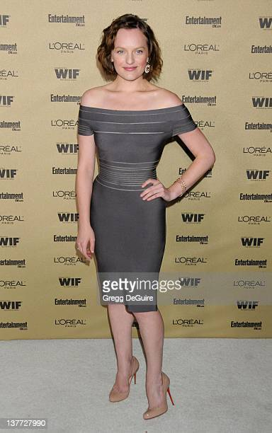 """Elisabeth Moss arrives at the Entertainment Weekly and Women In Film Pre-Emmy Party at the """"Restaurant"""" at the Sunset Marquis Hotel on August 27,..."""