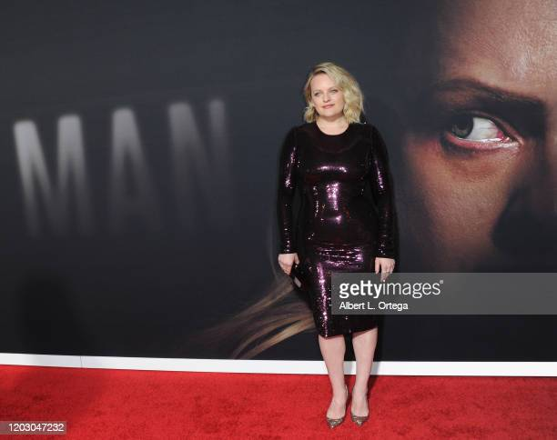 Elisabeth Moss arrives for the premiere of Universal Pictures' The Invisible Man held at TCL Chinese Theatre on February 24 2020 in Hollywood...