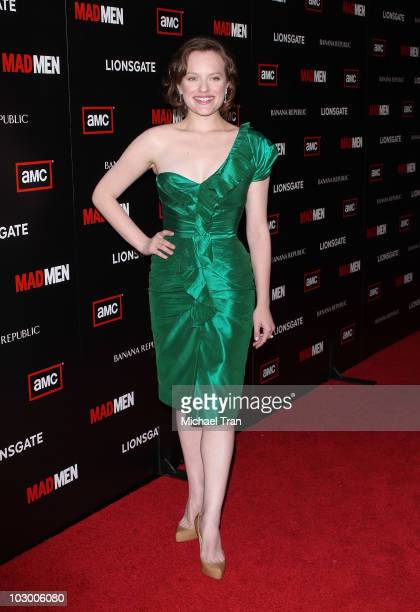 Elisabeth Moss arrives to AMC's 'Mad Men' season 4 premiere held at Mann Chinese 6 on July 20 2010 in Los Angeles California