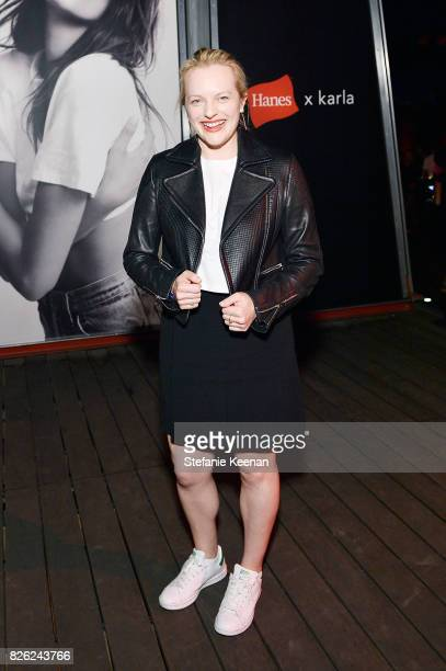 Elisabeth Moss at x karla Launch Party at Maxfield on August 3 2017 in Los Angeles California