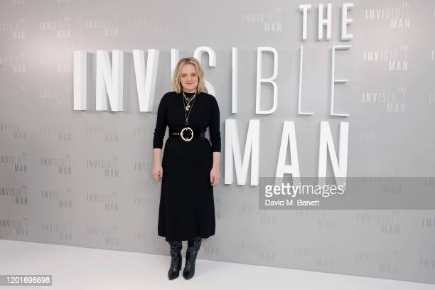 Elisabeth Moss attends a photocall for The Invisible Man at The Soho Hotel on February 18 2020 in London England