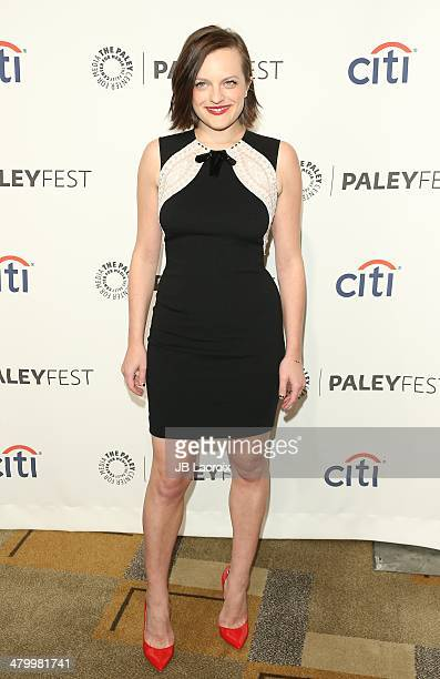 Elisabeth Moss attends the 2014 PaleyFest 'Mad Men' held at Dolby Theatre on March 21 2014 in Hollywood California