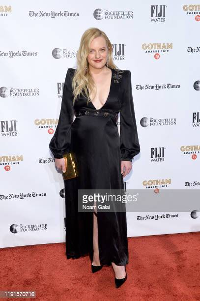 Elisabeth Moss attends the 2019 IFP Gotham Awards with FIJI Water at Cipriani Wall Street on December 02 2019 in New York City