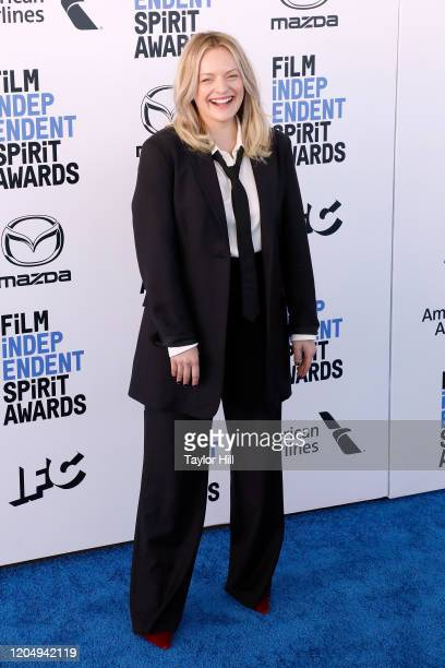 Elisabeth Moss attends the 2020 Film Independent Spirit Awards at Santa Monica Pier on February 08 2020 in Santa Monica California