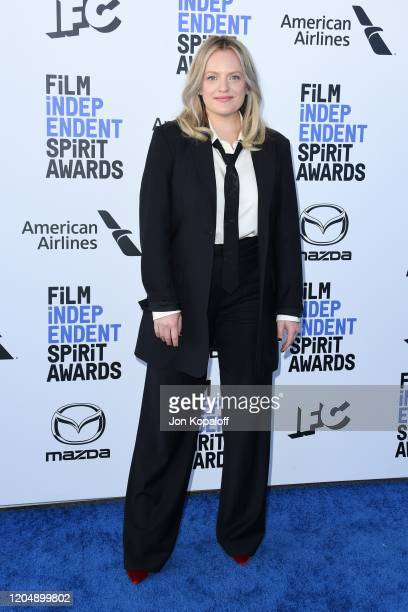 Elisabeth Moss attends the 2020 Film Independent Spirit Awards on February 08, 2020 in Santa Monica, California.