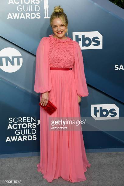Elisabeth Moss attends the 26th Annual Screen Actors Guild Awards at The Shrine Auditorium on January 19 2020 in Los Angeles California