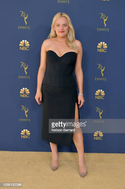 Elisabeth Moss attends the 70th Emmy Awards at Microsoft Theater on September 17, 2018 in Los Angeles, California.