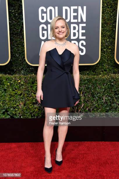 Elisabeth Moss attends the 76th Annual Golden Globe Awards at The Beverly Hilton Hotel on January 6, 2019 in Beverly Hills, California.