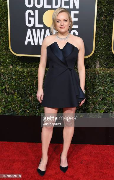Elisabeth Moss attends the 76th Annual Golden Globe Awards at The Beverly Hilton Hotel on January 6 2019 in Beverly Hills California