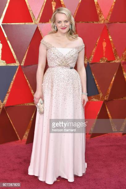 Elisabeth Moss attends the 90th Annual Academy Awards at Hollywood Highland Center on March 4 2018 in Hollywood California