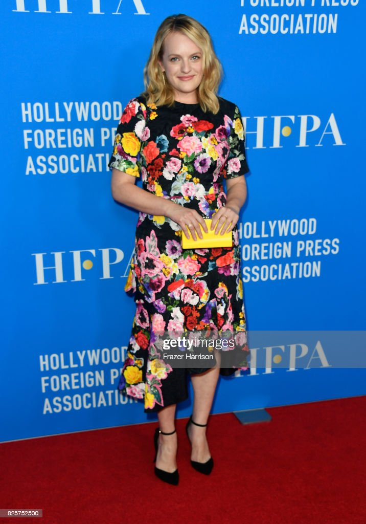 Elisabeth Moss attends the Hollywood Foreign Press Association's Grants Banquet at the Beverly Wilshire Four Seasons Hotel on August 2, 2017 in Beverly Hills, California.
