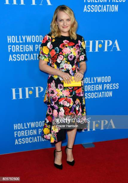 Elisabeth Moss attends the Hollywood Foreign Press Association's Grants Banquet at the Beverly Wilshire Four Seasons Hotel on August 2 2017 in...
