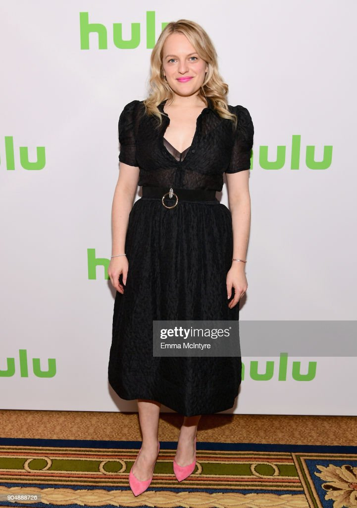 Elisabeth Moss attends the Hulu Winter TCA at Langham Hotel on January 14, 2018 in Pasadena, California.
