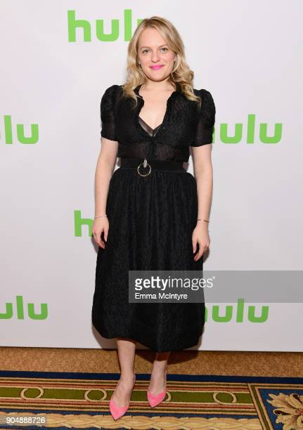 Elisabeth Moss attends the Hulu Winter TCA at Langham Hotel on January 14 2018 in Pasadena California