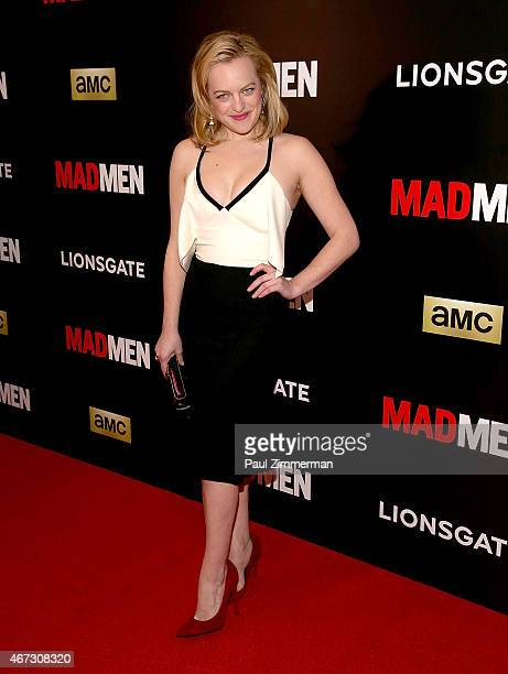 Elisabeth Moss attends the 'Mad Men' New York Special Screening at The Museum of Modern Art on March 22 2015 in New York City