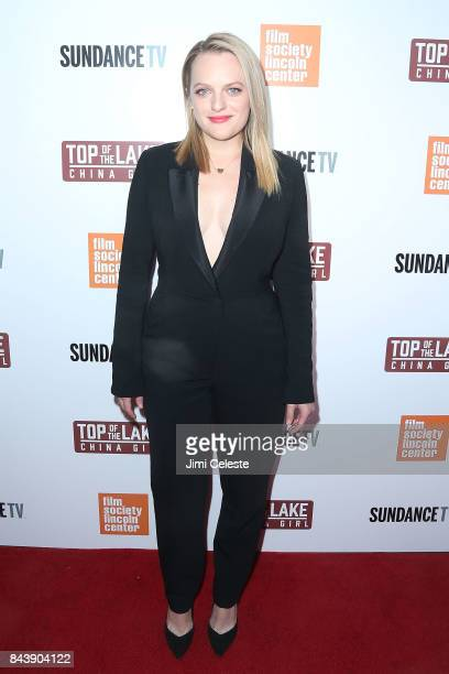 """Elisabeth Moss attends the New York premiere of """"Top of the Lake: China Girl"""" at The Film Society of Lincoln Center, Walter Reade Theatre on..."""