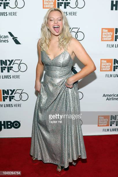 Elisabeth Moss attends the premiere of Her Smell during the 2018 New York Film Festival at Alice Tully Hall Lincoln Center on September 29 2018 in...