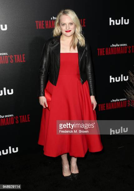 Elisabeth Moss attends the premiere of Hulu's 'The Handmaid's Tale' Season 2 at TCL Chinese Theatre on April 19 2018 in Hollywood California