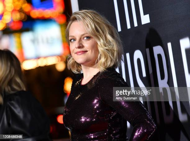 Elisabeth Moss attends the Premiere of Universal Pictures' The Invisible Man at TCL Chinese Theatre on February 24 2020 in Hollywood California