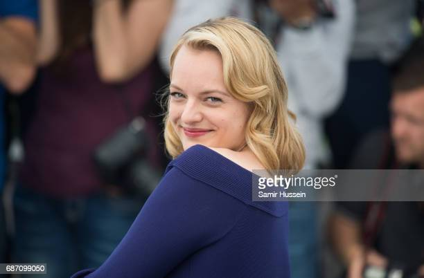 Elisabeth Moss attends the Top Of The Lake China Girl photocall during the 70th annual Cannes Film Festival at Palais des Festivals on May 23 2017 in...