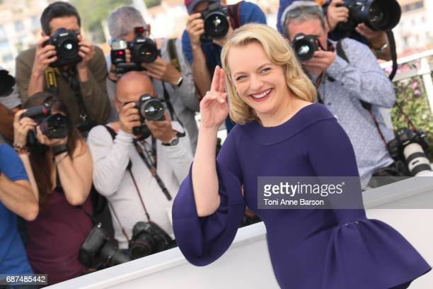Elisabeth Moss attends the 'Top Of The Lake China Girl' Photocall during the 70th annual Cannes Film Festival at Palais des Festivals on May 23 2017...