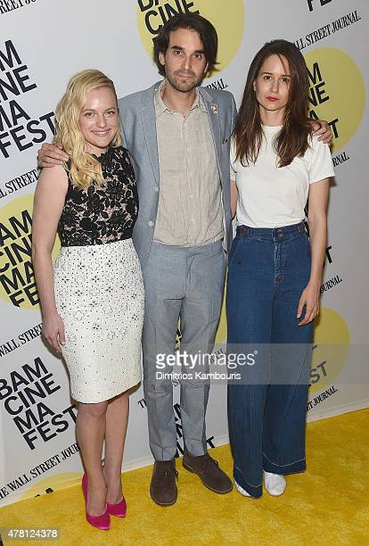 """Elisabeth Moss, director Alex Rose Perry and Katherine Waterston attend the """"Queen Of Earth"""" Premiere - BAMcinemaFest 2015 at BAM Peter Jay Sharp..."""