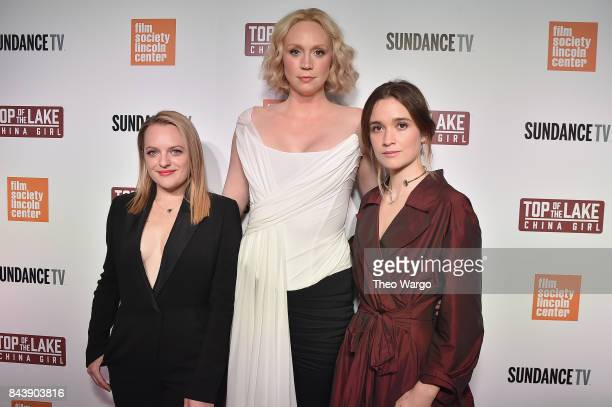 Elisabeth Moss Gwendoline Christie and Alice Englert attend 'Top Of The Lake China Girl' Premiere at Walter Reade Theater on September 7 2017 in New...