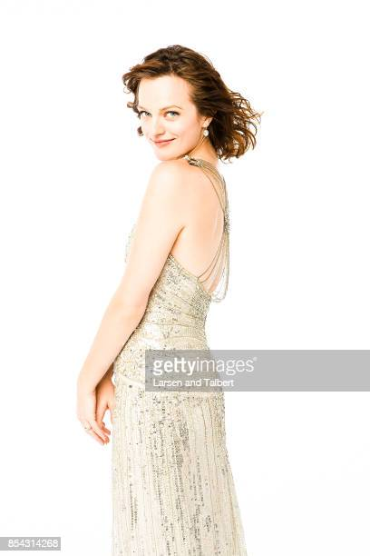 Elisabeth Moss is photographed at the 2008 Emmy Awards for People Magazine on September 21 2017 in Los Angeles California