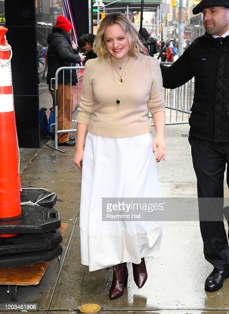 Elisabeth Moss is seen outside good morning america on February 26 2020 in New York City