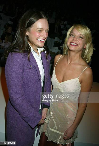 Elisabeth Moss of the TV show 'The West Wing' and Nicole Paggi of the TV show 'Hope and Faith'
