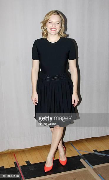 Elisabeth Moss poses at 'The Heidi Chronicles' Media Day Photo Call at The Baryshnikov Arts Center on January 20 2015 in New York City