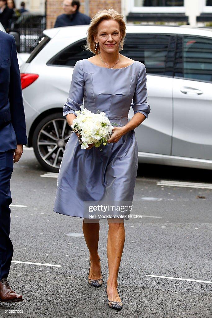 Jerry Hall Marries Media Mogul Rupert Murdoch At St Brides Church In Fleet Street -  March 5, 2016
