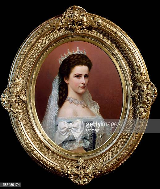 Elisabeth of Wittelsbach Duchess of Bavaria Empress of Austria Queen of Hungary in Hungarian costume painting by Georg Raab Kunsthistorisches Museum...