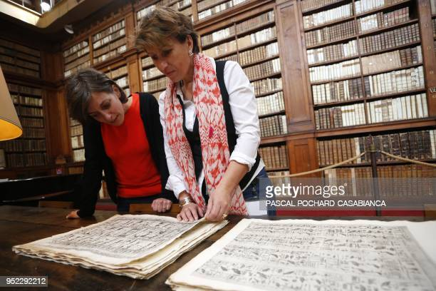 Elisabeth Perié director of the Fesch municipal library of Ajaccio, and Vannina Schirinsky-Schikhmatoff, curator commissioned by the Ajaccio city...