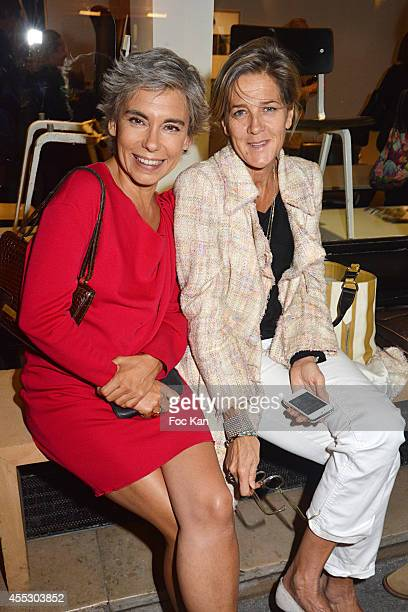 Elisabeth Quin and Florette Hayot attend the 'Jaspers Johns Atelier Crommelynck Engravings' Exhibition Preview At Galerie Catherine Houard on...