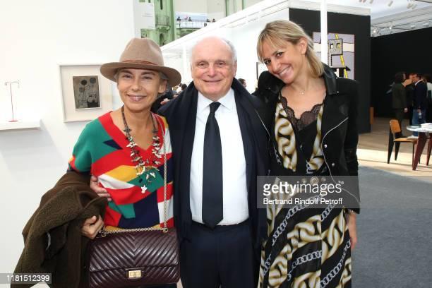 Elisabeth Quin Artist David Nahmad and AnneClaire Bisch Saffioti attend the FIAC 2019 International Contemporary Art Fair Press Preview at le Grand...