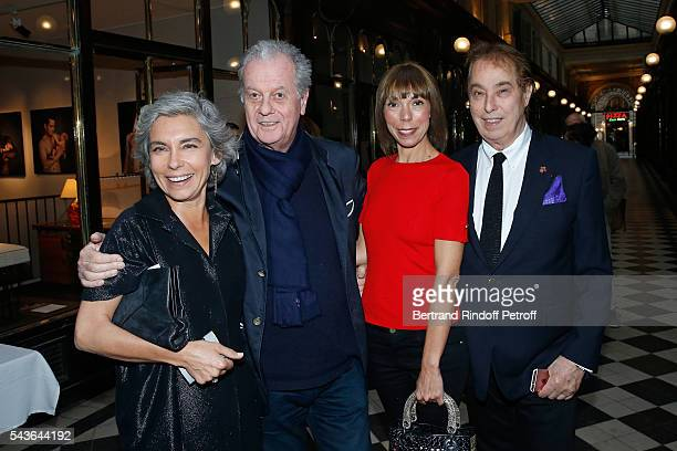 Elisabeth Quin Jacques Grange Mathilde Favier and Gilles Dufour attend the Private View of Francoise Sagan Photographer Photo Exhibition at Galerie...