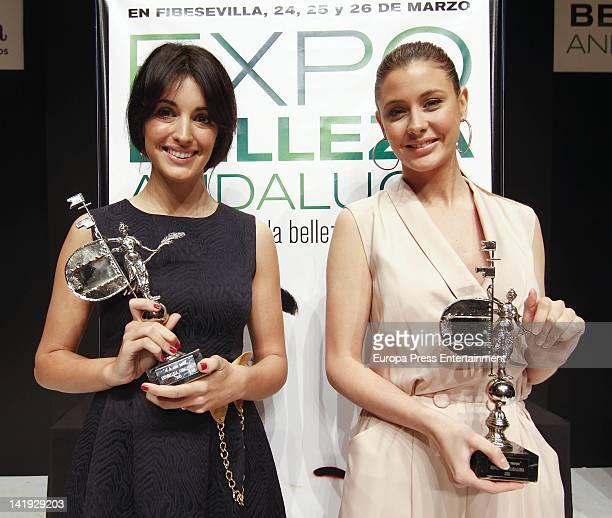 Elisabeth Reyes and Noelia Lopez attend 'Expobelleza Andalucia 2012' at Palacio de Exposiciones y Congresos on March 24 2012 in Seville Spain