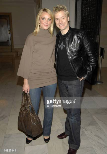 Elisabeth Rohm and Chris Botti during 'A Guide to Recognizing Your Saints' After Party at Private Residence in New York New York United States
