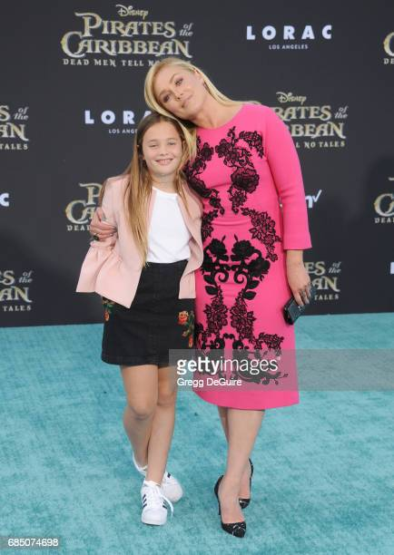 Elisabeth Rohm and daughter Easton arrive at the premiere of Disney's 'Pirates Of The Caribbean Dead Men Tell No Tales' at Dolby Theatre on May 18...