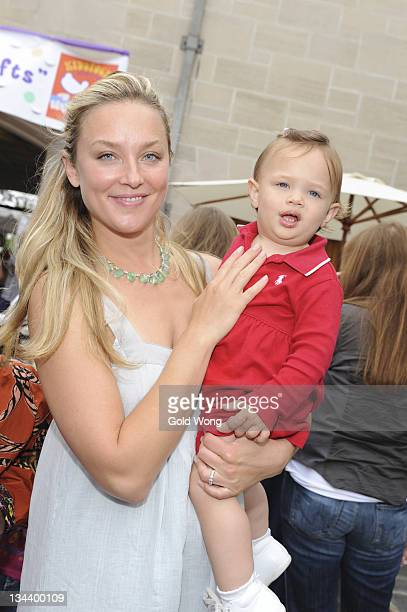 Elisabeth Rohm and daughter Easton attend The 3rd Annual Kidstock Music and Arts Festival Sponsored by UGG Australia at Greystone Mansion on May 31...