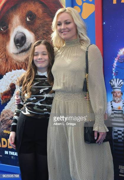 Elisabeth Rohm and daughter Easton August Anthony Wooster arrive for the premiere of Warner Bros Pictures' 'Paddington 2' held at Regency Village...