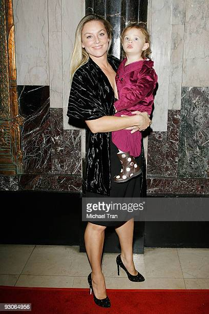Elisabeth Rohm and her daughter arrive to the Los Angeles premiere of 'Dr Seuss' How The Grinch Stole Christmas The Musical' held at the Pantages...