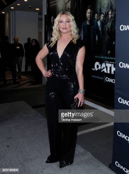 Elisabeth Rohm attends the premiere of Crackle's 'The Oath' at Sony Pictures Studios on March 7 2018 in Culver City California