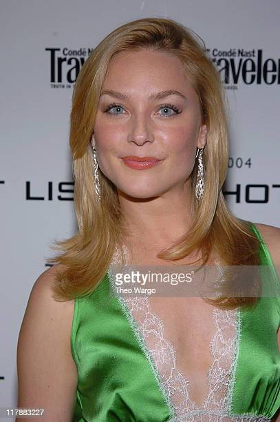 Elisabeth Rohm during 2004 Conde Nast Traveler Hot List Party at Hotel Gansevoort in New York City New York United States