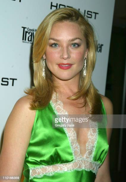 Elisabeth Rohm during 2004 Conde Nast Traveler Magazine Hot List Party Arrivals at Hotel Gansevoort in New York City New York United States